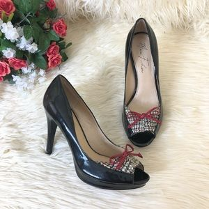 "Marc Fisher ""Vicki"" Open Toe Pump Heels"